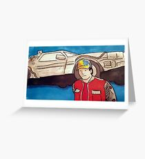 Marty Mcfly BTTF print Greeting Card