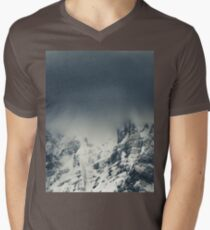 Darkness and clouds covering mountain Men's V-Neck T-Shirt