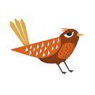 Sleepy Bird - Cute Animal Illustration by SpikyHarold