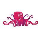 Sleepy Octopus - Cute Animal Illustration by SpikyHarold