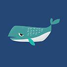 Sleepy Whale - Cute Animal Illustration by SpikyHarold