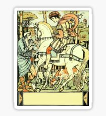 The Sleeping Beauty Picture Book Plate - An Aged Peasant Told of an Enchanted Palace Sticker