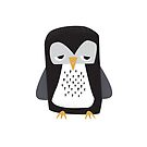 Sleepy Penguin - Cute Animal Illustration by SpikyHarold