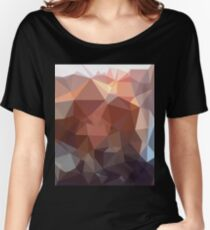 Gold Rose Fancy Polygon Style Women's Relaxed Fit T-Shirt