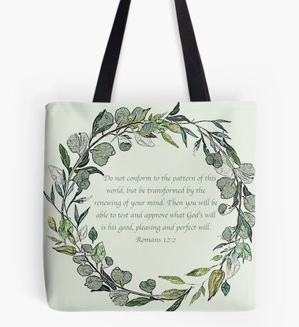Romans 12:2 Tote Bag