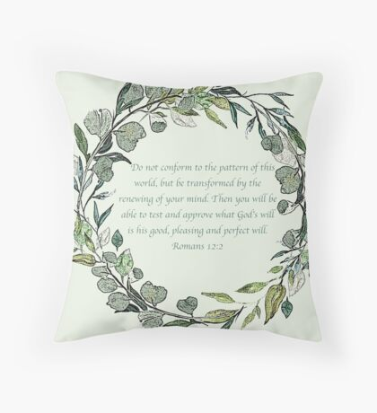 Romans 12:2 Throw Pillow