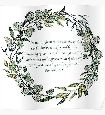 Romans 12:2 Poster