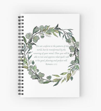 Romans 12:2 Spiral Notebook
