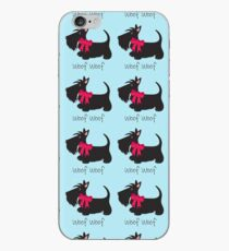 Woof Woof Scottie_Copyright © BonniePortraits on Redbubble.com iPhone Case