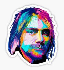 nirvana - pop art - kurt cobain Sticker