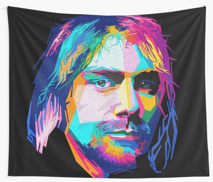 Telas decorativas «nirvana - arte pop - kurt cobain» de ...