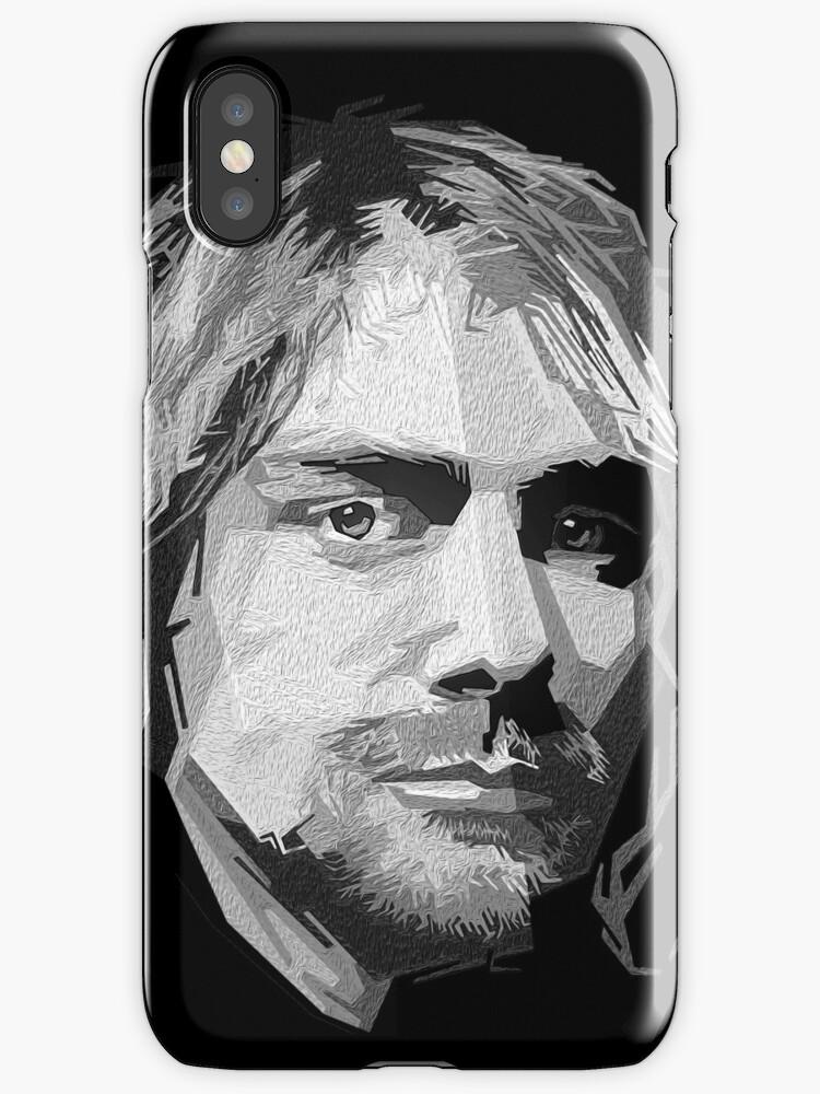 Nirvana - Pop Art - kurt Cobain in schwarz\