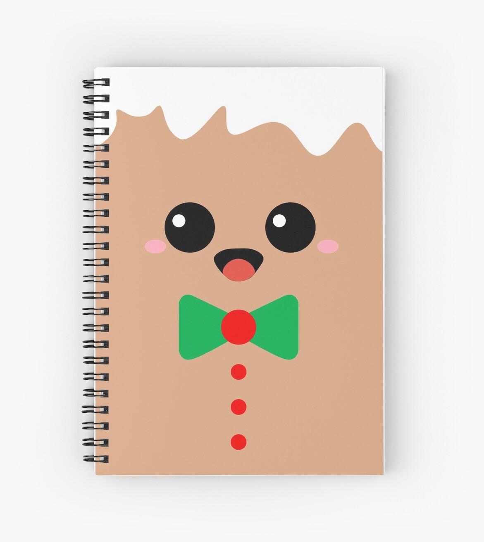 Cuadernos de espiral «Linda cara de jengibre» de CatByDesign | Redbubble