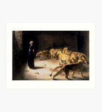 Briton Riviere - Daniels Answer To The King Painting Art Print