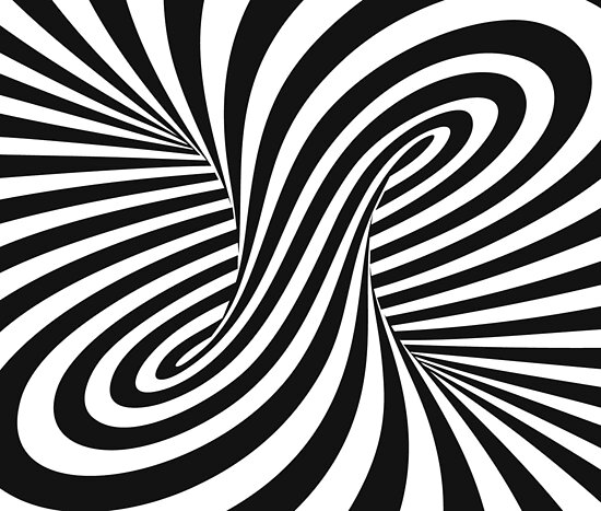 """Trippy Black And White Swirl"" Posters by Old Glory Tees ..."
