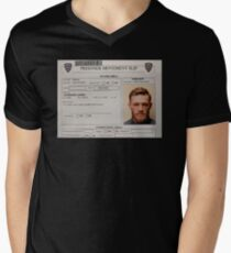 Conor McGregor Mugshot Men's V-Neck T-Shirt
