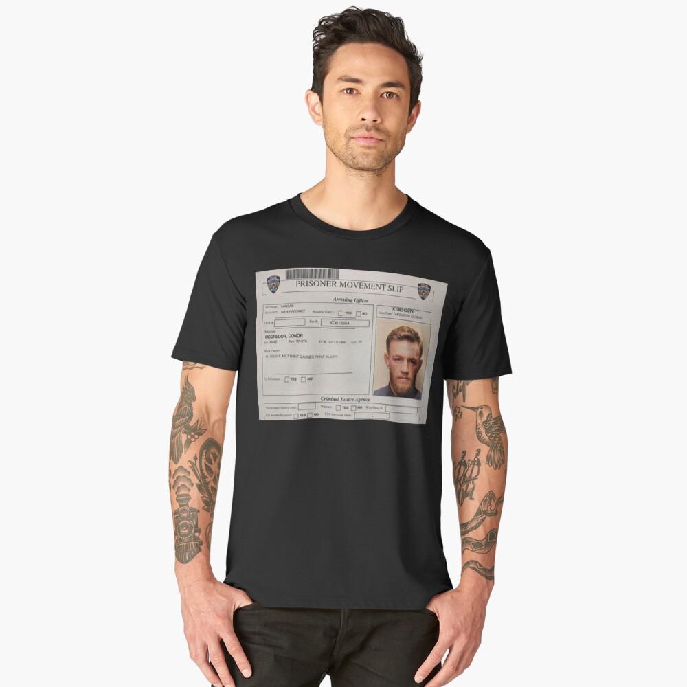 Conor McGregor Mugshot Men's Premium T-Shirt Front