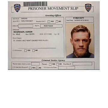Conor McGregor Mugshot by MartialMania