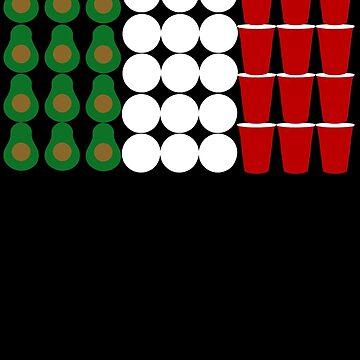 Mecxican Cinco De Mayo Beer Pong Flag by Daytone