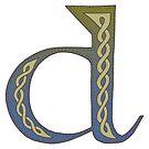 Celtic Knotwork Alphabet - Letter D by Carrie Dennison
