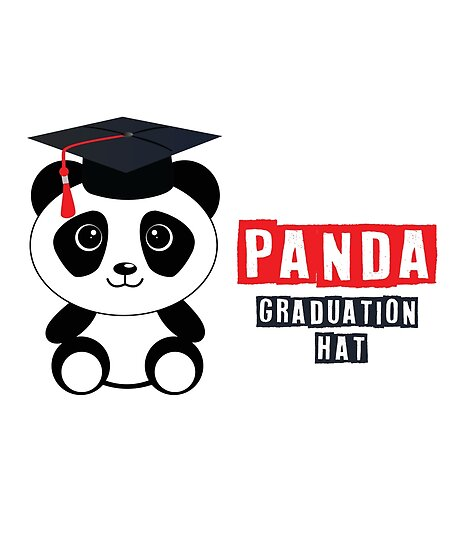 Panda Bear Lyrics Student Abschlussfeier Abschluss Hut Poster Von