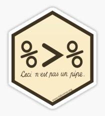 magrittr hex logo Sticker