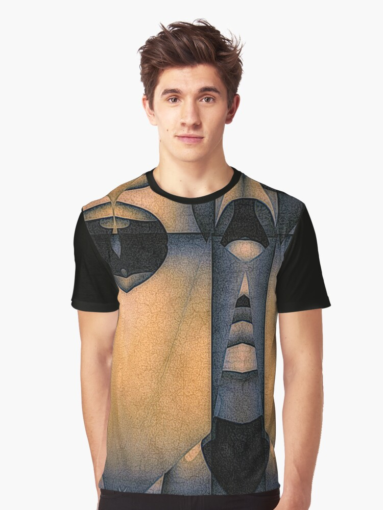 keyhole Graphic T-Shirt Front