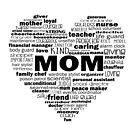 Heart Mom Words in Black by jitterfly
