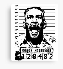 Conor McGregor Arrested Mugshot Canvas Print