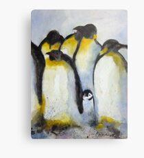 Penguin Party Metal Print