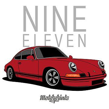 Nine Eleven (red) by MotorPrints