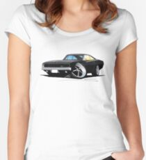 Dodge Charger Black Women's Fitted Scoop T-Shirt