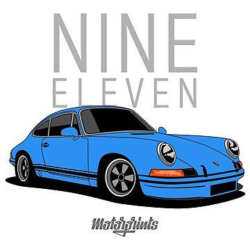 Nine Eleven (blue) by MotorPrints