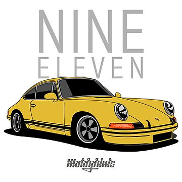 Nine Eleven (yellow) by MotorPrints