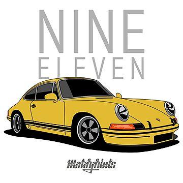 Nine Eleven (yellow) by MotorPrints
