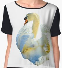 Mute Swan Display Chiffon Top