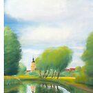 Summer evening at the Templiner Kanal by Jens-Uwe Friedrich