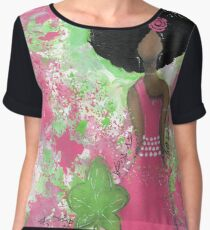 Dripping in Pink and Green Angel Chiffon Top