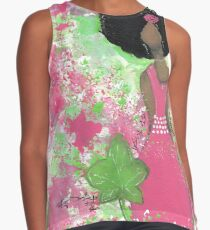 Dripping in Pink and Green Angel Contrast Tank