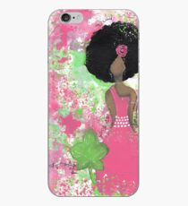 Dripping in Pink and Green Angel iPhone Case