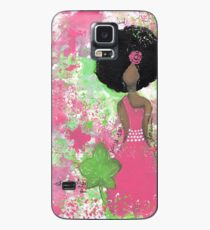 Dripping in Pink and Green Angel Case/Skin for Samsung Galaxy