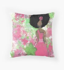 Dripping in Pink and Green Angel Floor Pillow