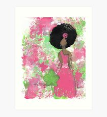Dripping in Pink and Green Angel Art Print