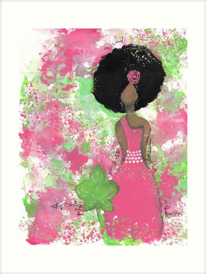 Tropft in Pink und Green Angel von Tiare Smith