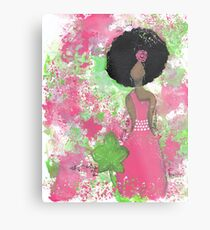 Dripping in Pink and Green Angel Metal Print
