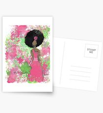 Dripping in Pink and Green Angel Postcards