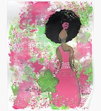 Dripping in Pink and Green Angel Poster