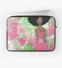 Dripping in Pink and Green Angel Laptop Sleeve