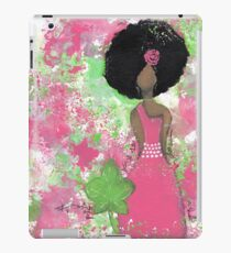 Dripping in Pink and Green Angel iPad Case/Skin