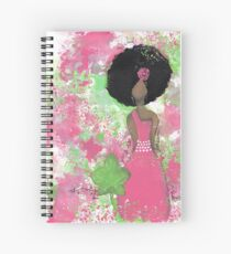 Dripping in Pink and Green Angel Spiral Notebook